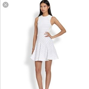 Rag and Bone White Dress with Leather Trim